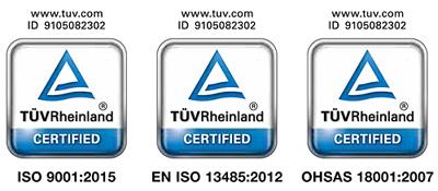 Kosmetikgeräte zertifiziert nach DIN ISO 9000 TÜV Rheinland