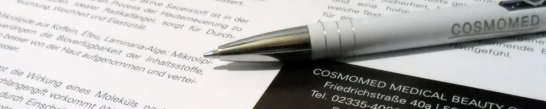 Darstellung Datenschutz Cosmomed GmbH