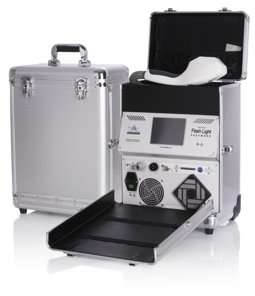 IPL Gerät als mobiles Koffergerät für Haarentfernung