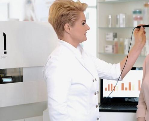 Exakte Hautanalyse-Messungen mit dem Skin-o-mat