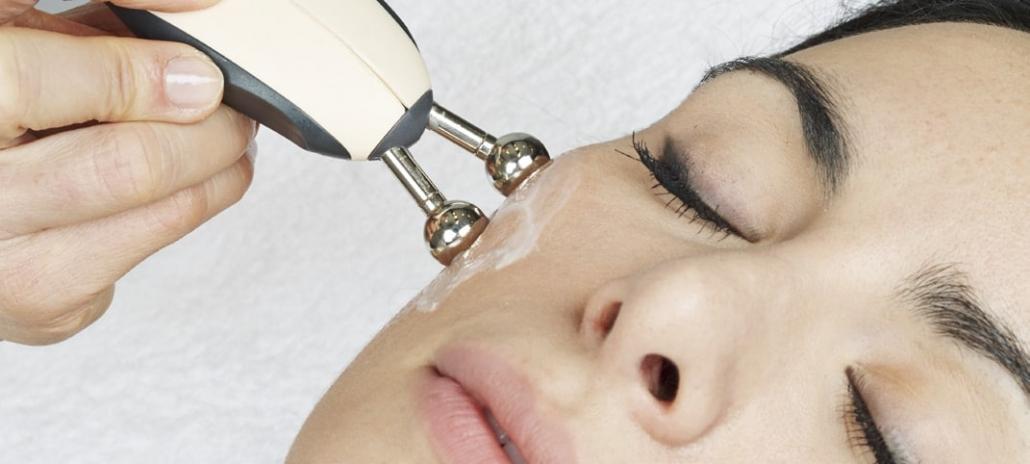 Anwendung bipolare Radiofrequenz Kugel Gesicht