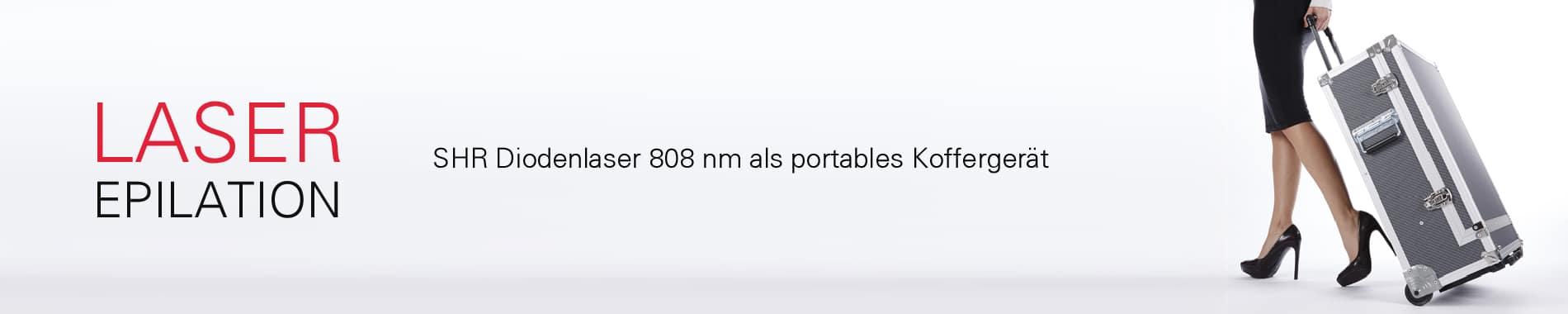 SHR Diodenlaser 808 nm mobiles Koffergerät dauerhafte Haarentfernung
