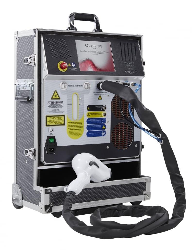 Portables Koffergerät für die Haarentfernung mit Diodenlaser