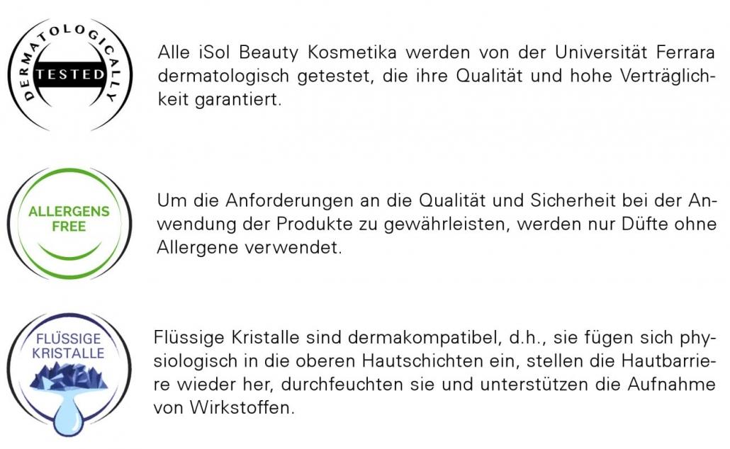iSol Beauty dermatologisch getestet und frei von Allergenen