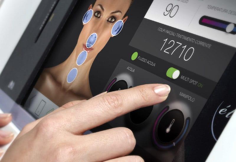10 Zoll Touch Screen Menü SHR Diodenlaser Haarentfernung