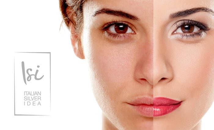 Italian Silver Idea Beauty Glove wiederverwendbarer Kosmetikhandschuh