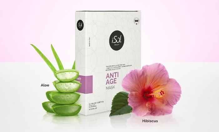 Exklusive Aufbau- und Anti Aging Maske aus 100% Biocellulosefasern