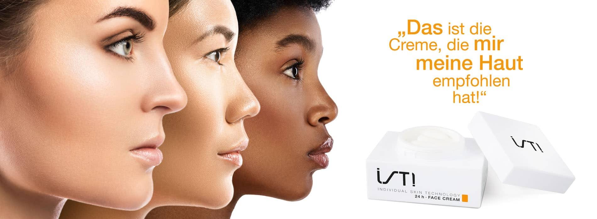 Individuelle und personalisierte Hautcreme
