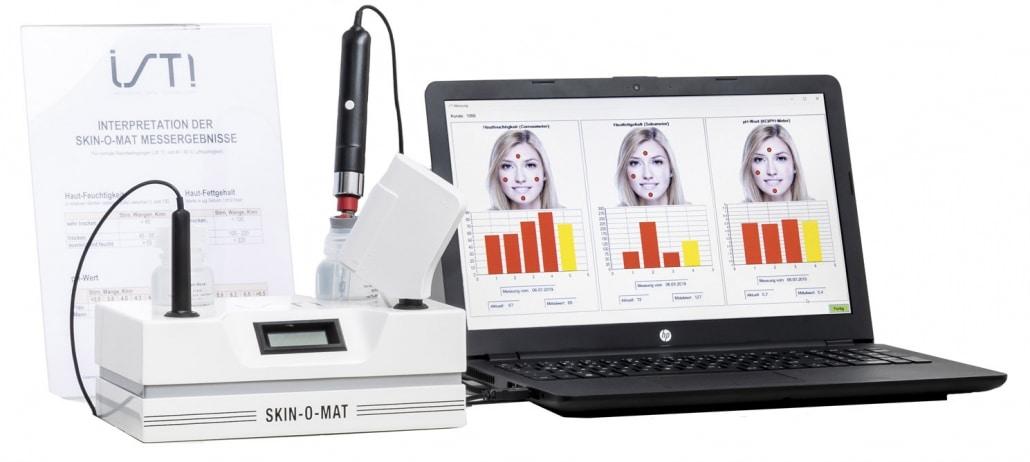 Professionelle Hautanalyse für die Herstellung individueller Cremes